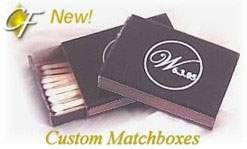 Custom matchboxes with custom designs on the cigar bands